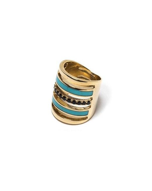Pamela Love | Blue Inlay Pave Ring | Lyst