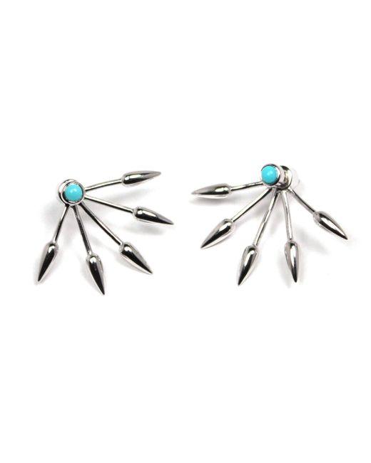 Pamela Love | Metallic 5 Spike Earrings | Lyst