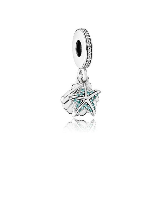 Pandora - Metallic Tropical Starfish & Sea Shell Pendant Charm - Lyst