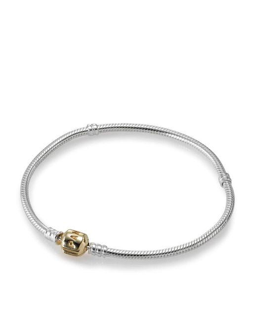 Pandora | Metallic Moment Charm Bracelet - Two Tone Clasp | Lyst