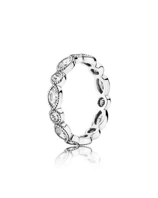 Pandora   Metallic Alluring Brilliant Marquise Ring   Lyst