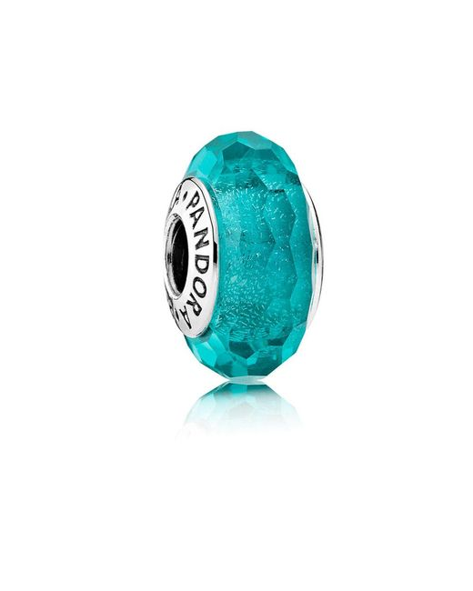 Pandora | Blue Teal Shimmer Glass Murano Charm | Lyst