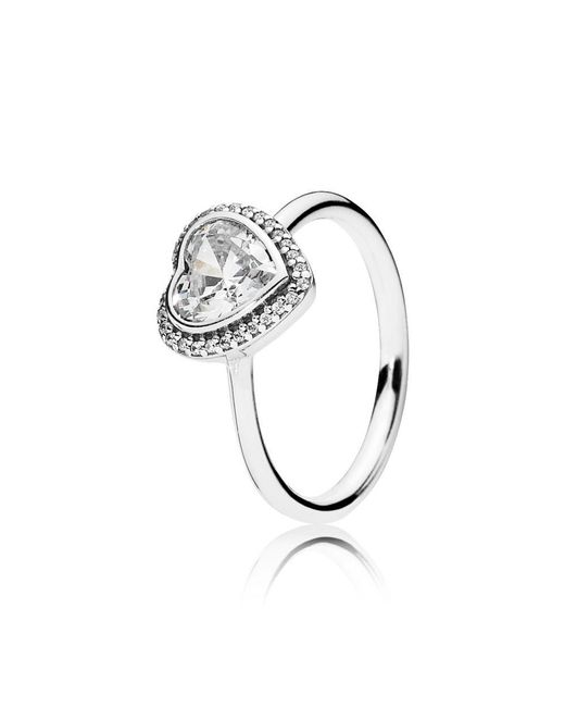Pandora | Metallic Sparkling Heart Ring | Lyst