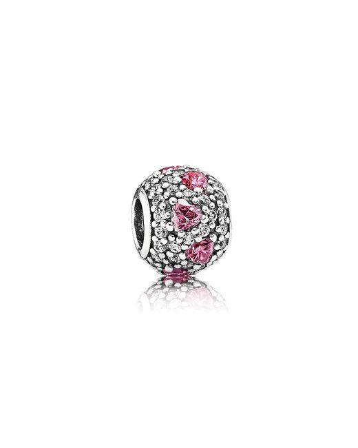Pandora | Multicolor Heart Pavé Ball Charm | Lyst