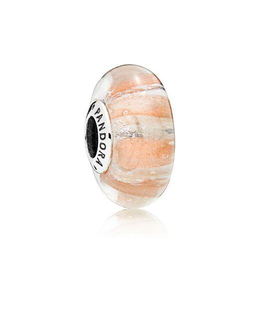 Pandora - Multicolor Shimmering Stripe Glass Murano Charm - Lyst