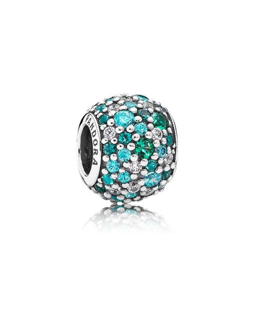 Pandora | Blue Ocean Mosaic Pavé Ball Charm | Lyst