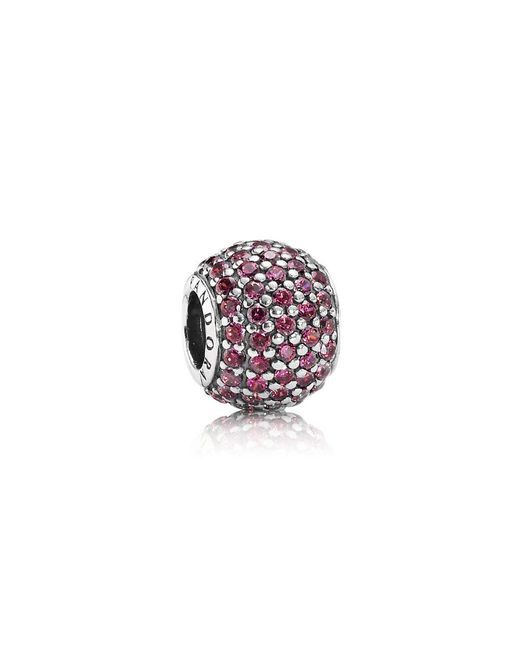Pandora   Red Pavé Ball Charm   Lyst