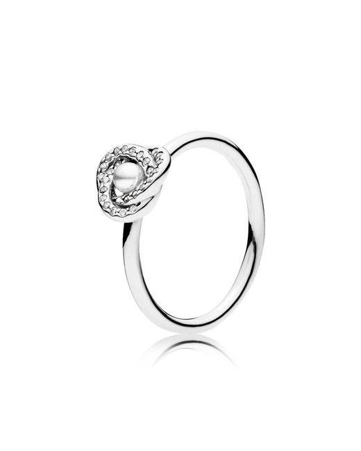Pandora - Metallic Luminous Love Knot Ring - Lyst