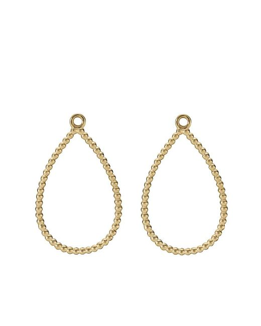 Pandora - Metallic Teardrop Earrings - Lyst