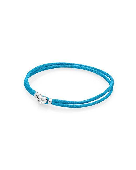 Pandora | Blue Moments Fabric Cord Bracelet, Turquoise | Lyst