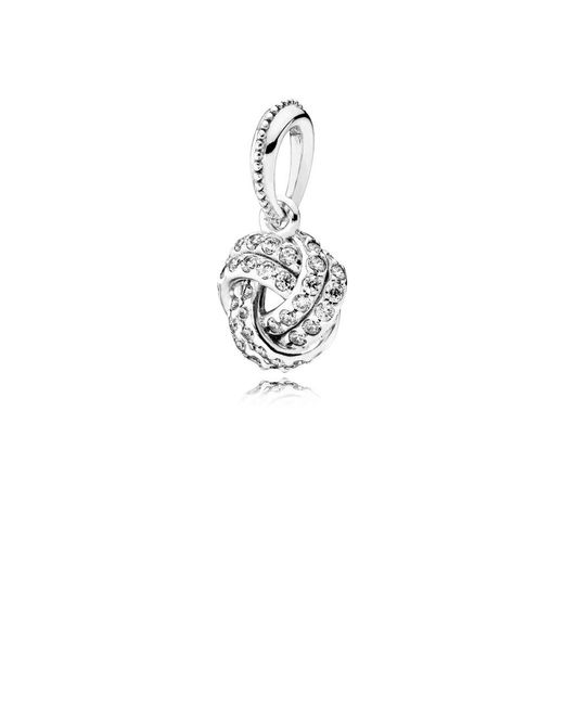 Pandora - Multicolor Sparkling Love Knot Pendant Charm - Lyst