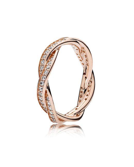 Pandora - Metallic Twist Of Fate Ring - Lyst