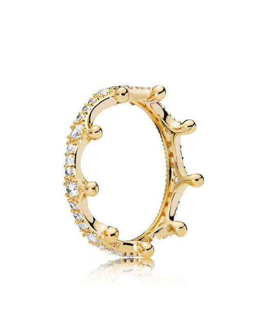 Pandora - Metallic Enchanted Tiara Ring - Lyst