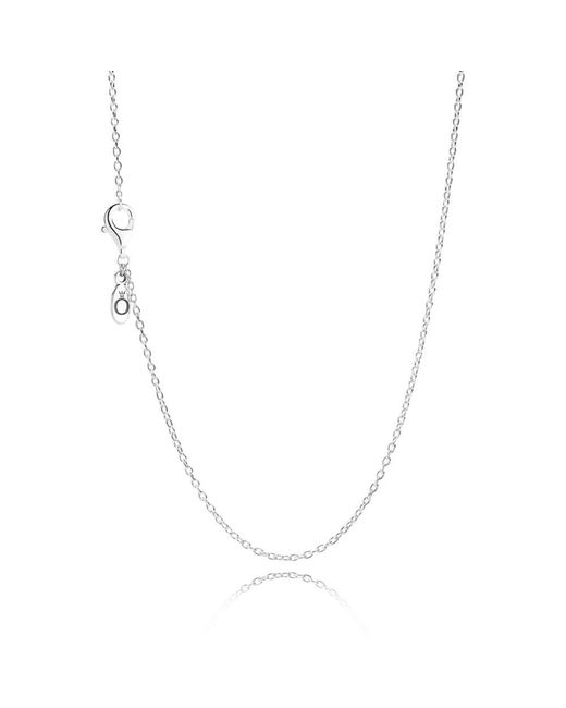 Pandora - Metallic Silver Chain Necklace - Lyst
