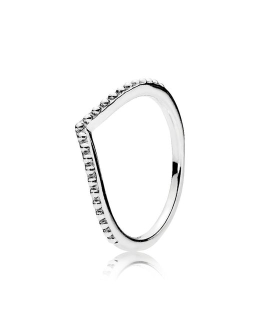 Pandora | Metallic Beaded Wish Ring | Lyst