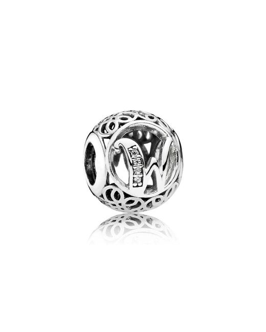 Pandora | Metallic Vintage W Charm | Lyst