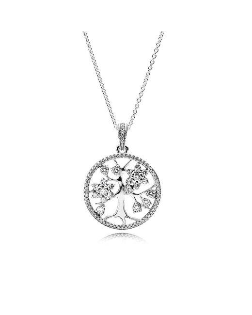 Pandora - Metallic Family Tree Necklace - Lyst