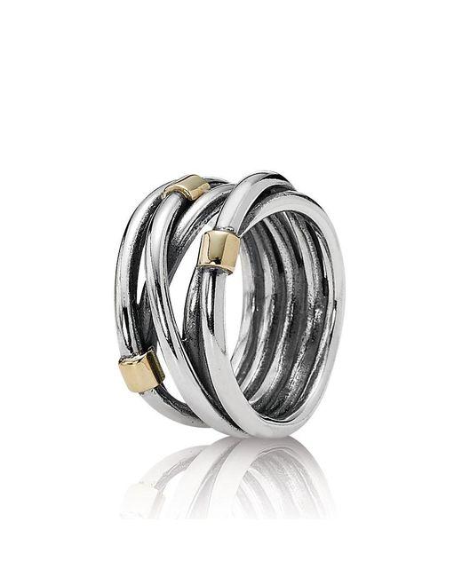 Pandora | Metallic Intertwined Ring | Lyst