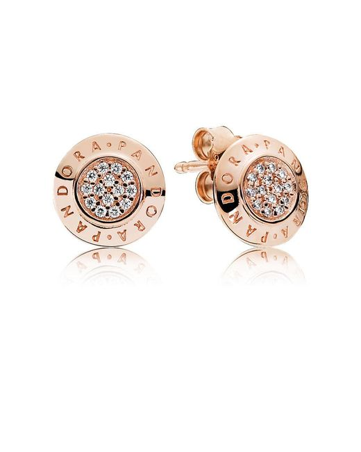 Pandora - Multicolor Signature Stud Earrings - Lyst