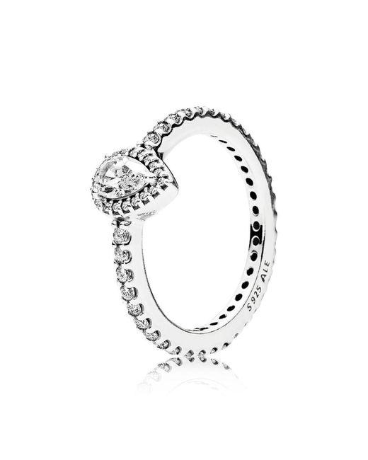 Pandora | Metallic Radiant Teardrop Ring | Lyst