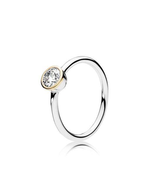 Pandora   Metallic Petite Circle Ring   Lyst