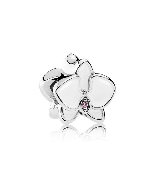 Pandora - White Orchid Charm - Lyst