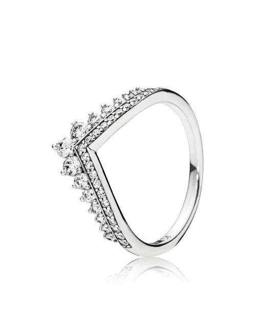 Pandora - Metallic Princess Wish Ring - Lyst