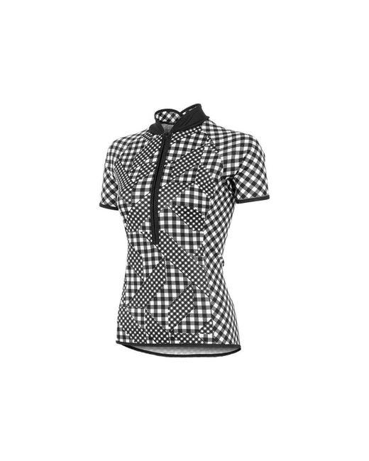 Shebeest - Black Bellissima Avant Gingham Short Sleeve Cycling Jersey - Lyst