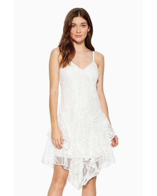 Parker - White Louise Floral Lace Dress - Lyst