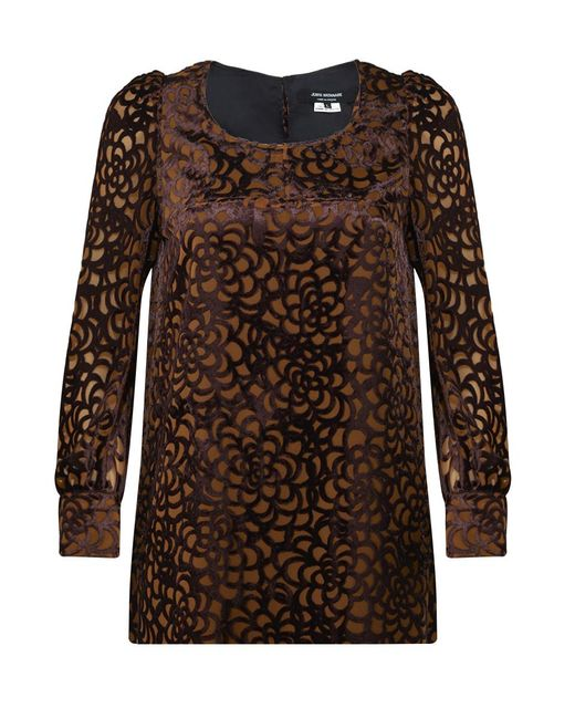 Junya Watanabe - Velvet Honey Comb Print Top Brown - Lyst