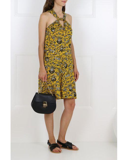 Isabel Marant Etoile Aba Dress Rasta Flower Print Yellow