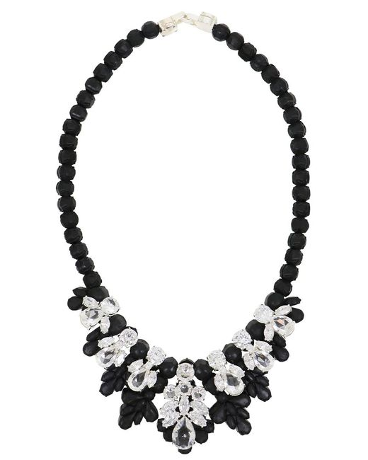 EK Thongprasert | Silicone Seven Jewel Neckpiece Black/white Crystals | Lyst
