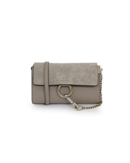 chlo faye mini bag motty grey in grey lyst. Black Bedroom Furniture Sets. Home Design Ideas