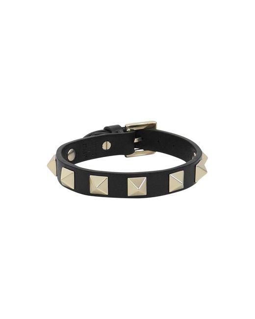 Valentino - Rockstud Leather Cuff Black - Lyst
