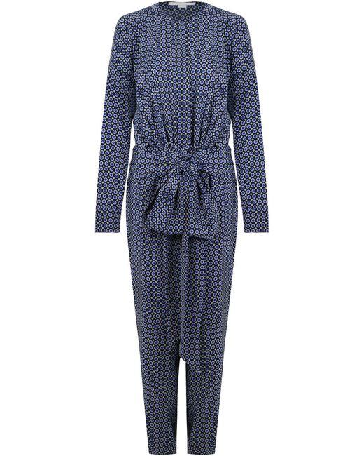 Stella McCartney - Michelle Windsor Tie Print Jumpsuit Black - Lyst
