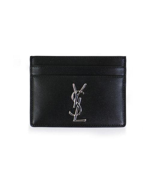 Saint Laurent Monogramme Cardholder Black