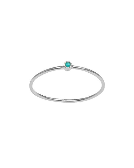 Jennifer Meyer - Multicolor Thin Turquoise Ring 18k White Gold - Lyst