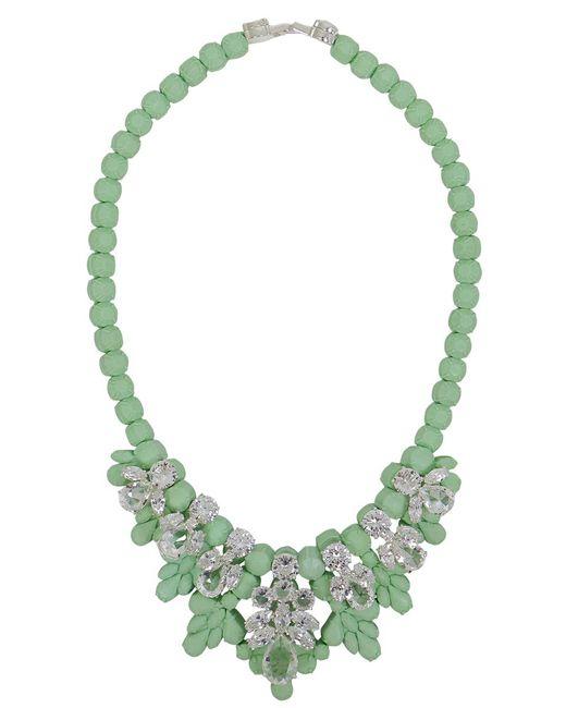 EK Thongprasert - Green Silicone Seven Jewel Neckpiece Mint/white Crystals - Lyst