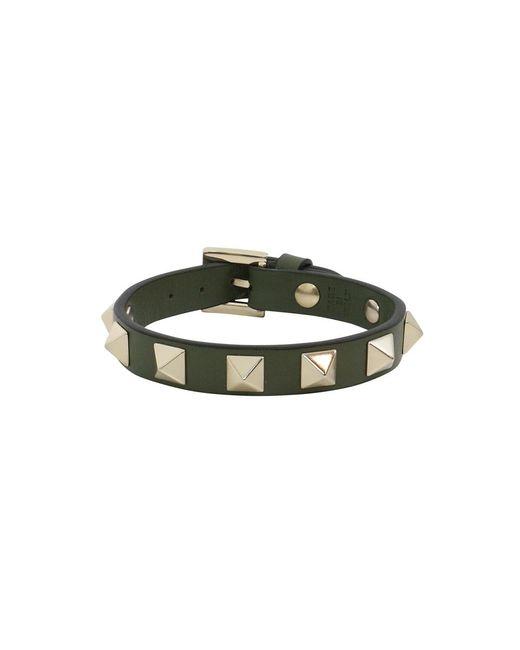 Valentino - Multicolor Rockstud Leather Cuff Oasis - Lyst