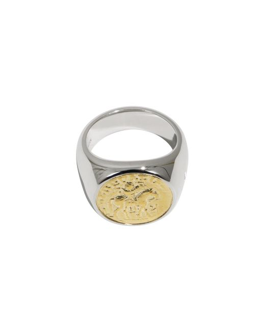 Tom Wood - Metallic Alexander The Great Coin Ring Silver/gold - Lyst