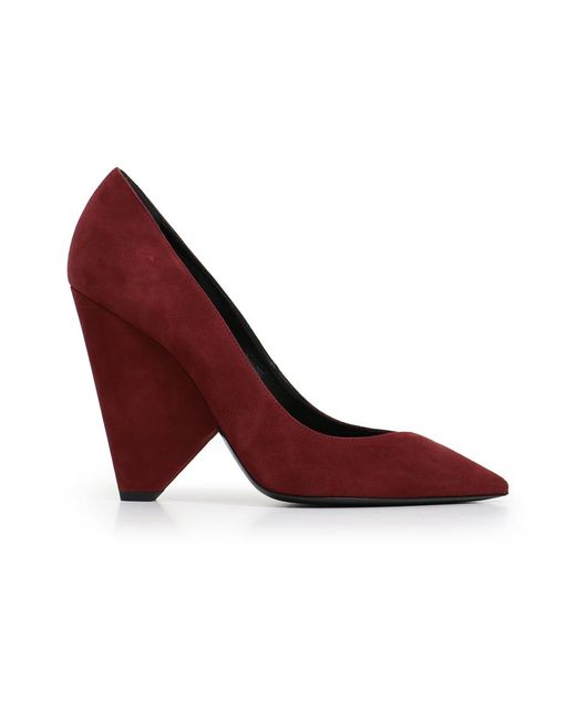 Saint Laurent - Multicolor Niki 105mm Suede Heel Light Bordeaux - Lyst