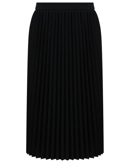 Balenciaga - Sunray Pleated Midi Skirt Black - Lyst