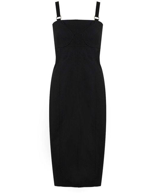 9ef663b2b914 Lyst - Proenza Schouler S less Bustier Midi Dress Black in Black