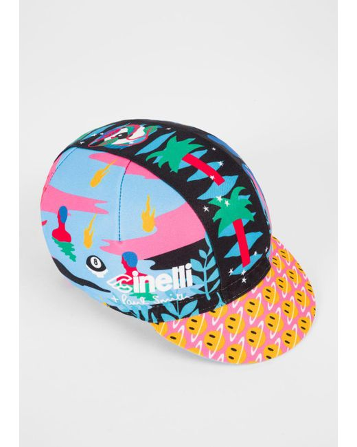 Paul Smith | Blue + Cinelli 'magic Eight Monster' Cycling Cap for Men | Lyst