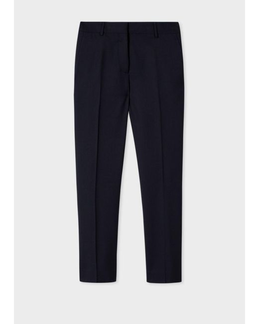 Paul Smith | Blue A Suit To Travel In - Women's Slim-fit Turquoise Wool-twill Trousers | Lyst