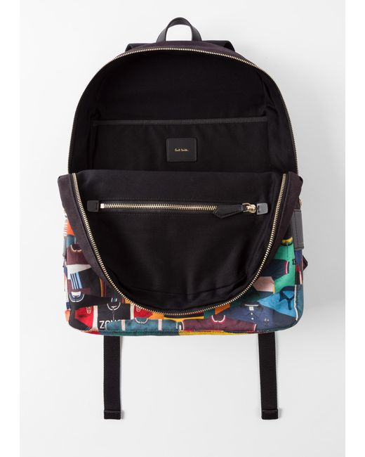 ... Paul Smith - Multicolor  Cycling Jersey  Print Canvas Backpack for Men  - Lyst 64e7e6589