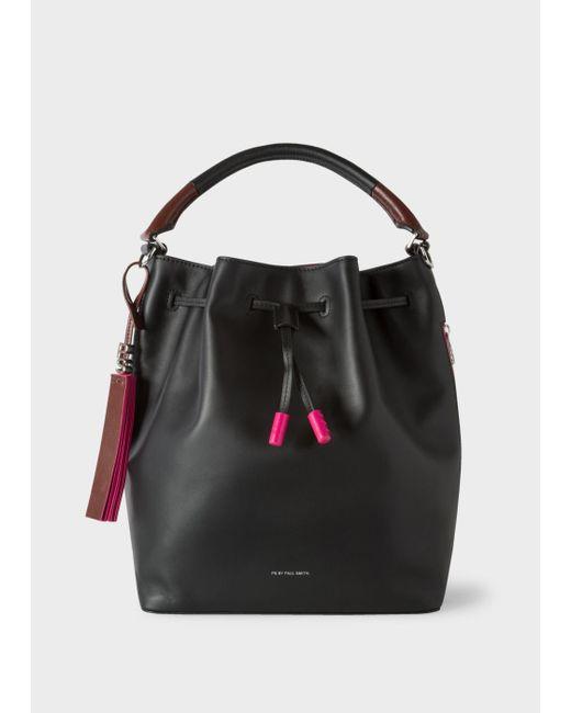 Paul Smith | Women's Black Leather Bucket Bag | Lyst