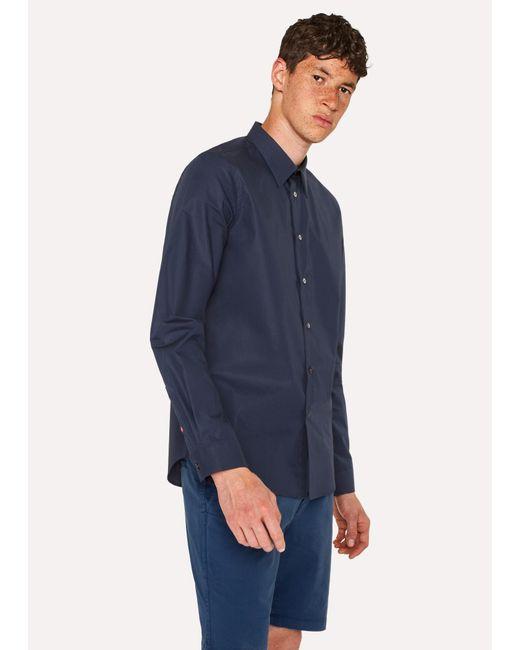 Paul Smith - Men's Tailored-fit Sky Blue Paisley Print Cotton 'artist Stripe' Cuff Shirt for Men - Lyst