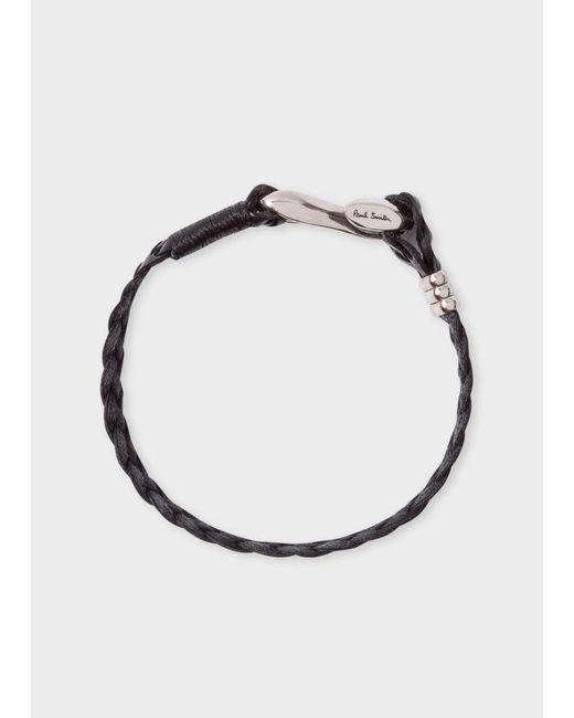 Paul Smith | Men's Black Five-strand Plaited Leather Bracelet for Men | Lyst