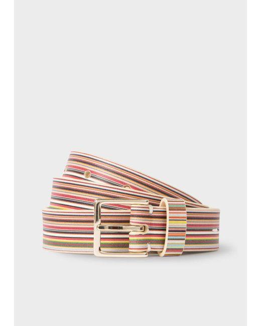 Paul Smith   Multicolor Women's Signature Stripe Leather Belt   Lyst